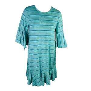 LuLaRoe 2X  Dress Stripes Bell Sleeve Stretch